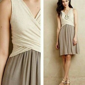 Amadi Oatmeal Tie Front Dress Size Small